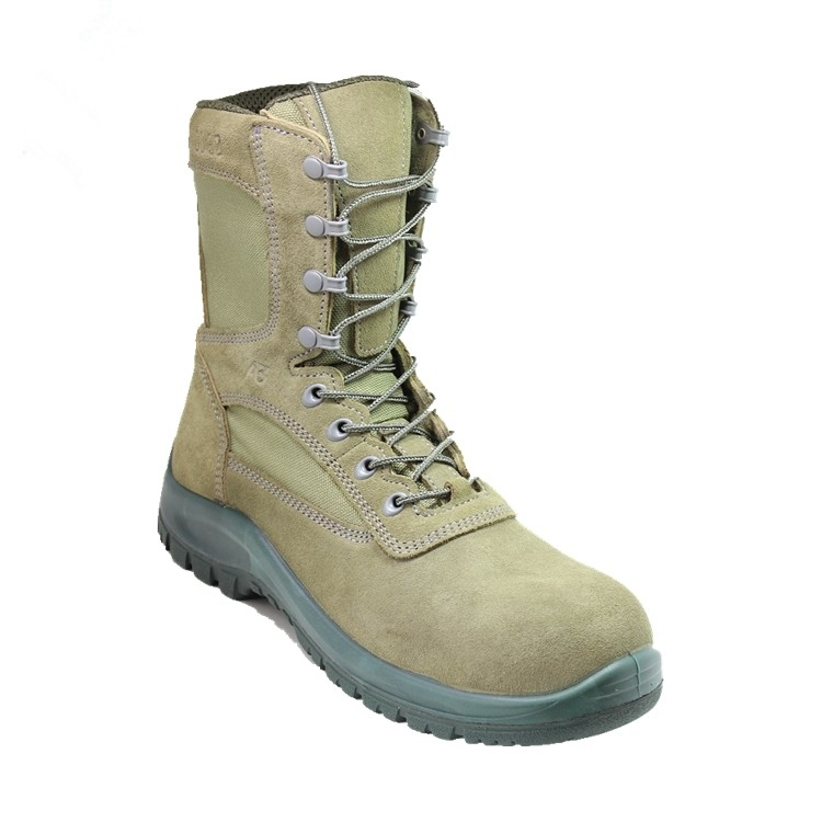 New fashion leather military combat boots unisex for man and women