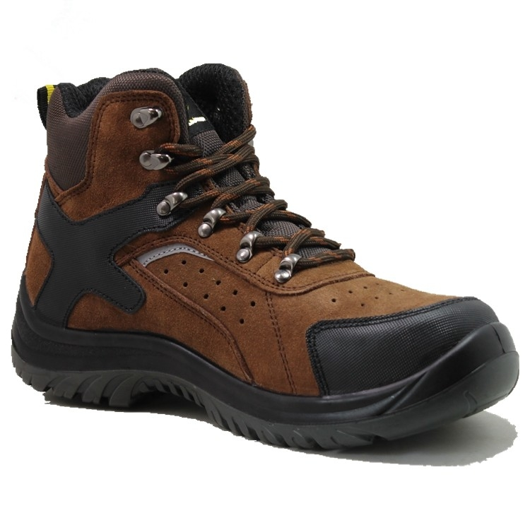 Injection pu/pu  with steel toe cap full grain  leather safety shoes